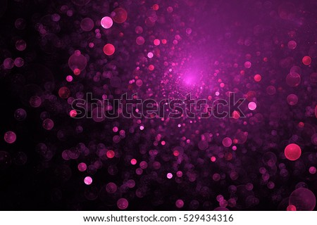 Supernova explosion. Abstract colorful pink sparks on dark background. Fantasy fractal texture for posters, postcards or t-shirts.