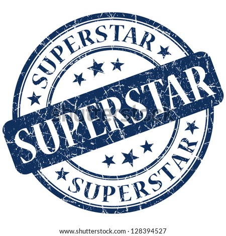superstar stamp - stock photo