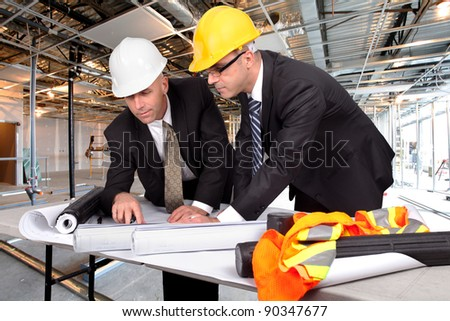 supervisors, managing a construction site
