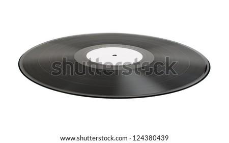 Supine Vinil Record white isolated Stock fotó ©