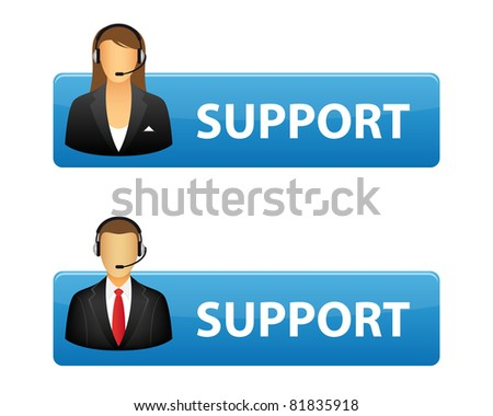 Support buttons. Vector available.