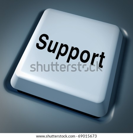 Support help service customer service computer key