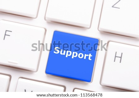 support key on keyboard showing contact us or service concept - stock photo