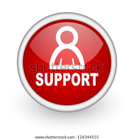 support red circle web icon on white background