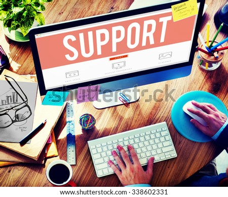 Support Service Help Assistance Guidance Concept #338602331