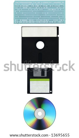 Supports for computer data storage - stock photo