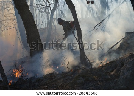 Suppression of forest fire.