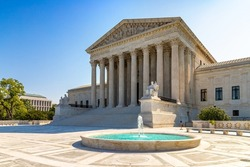 Supreme Court of the United States in Washington DC in a sunny day, USA