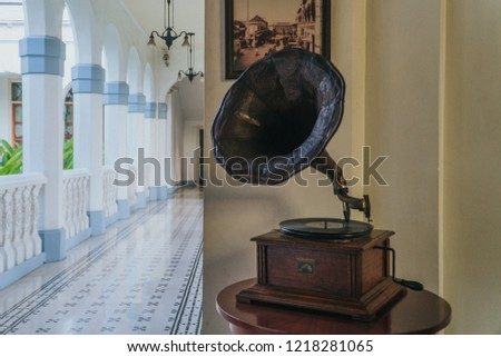 Surabaya, Indonesia - October 13, 2018: The atmosphere of the Majapahit hotel, on Tunjungan street, Surabaya, Indonesia. #1218281065