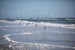 Surf Fishing on the Ocean's Edge