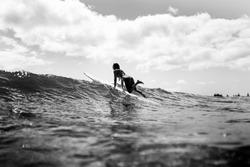 Surf Girl Longboard Waves Surfing