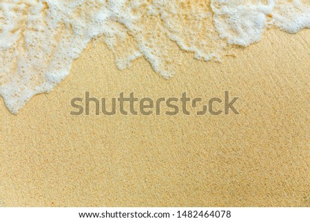 surf sea foam on perfect sand, travel copyspace background #1482464078