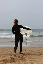 Surf session in Morocco. Sun was hiding but waves were great