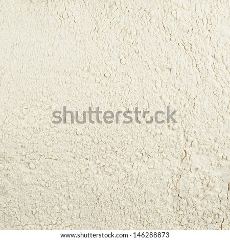 Surface covered with the wheat flour as a background