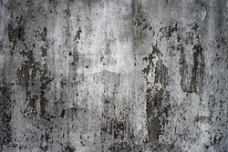 Surface grunge rough and peeling white painted of the old dilapidated concrete cement wall, Texture background