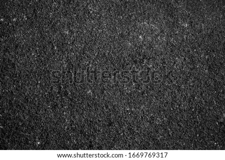 Surface grunge rough of asphalt, Seamless tarmac dark grey grainy road, Driveway texture Background, Top view Foto d'archivio ©