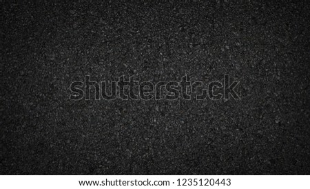 Surface grunge rough of asphalt, Tarmac dark grey grainy road, Texture Background, Top view