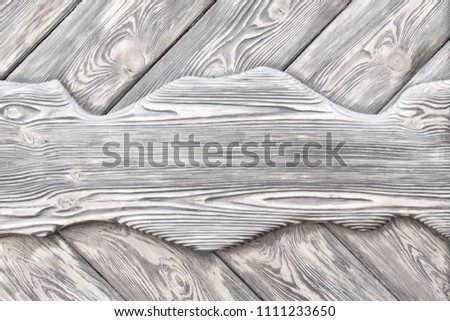 surface is very textured of old brushed boards covered with stain. White Wood background, texture. copy space #1111233650