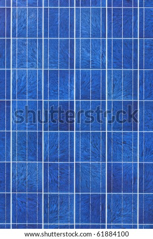 Surface of alternative energy photovoltaic solar panel