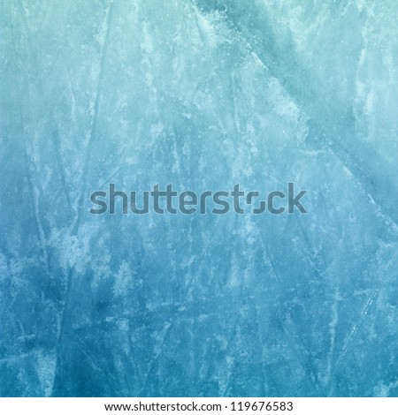 Surface of an Outdoor Ice Rink Replete with Skate Marks