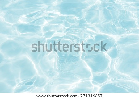 surface of blue swimming pool,background of water in swimming pool. #771316657