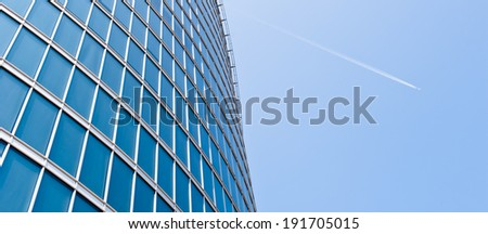 Surface of commercial office building