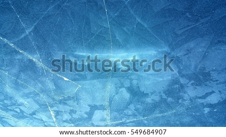 Surface of frozen lake background
