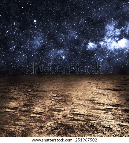 Surface of Mars  - Elements of this Image Furnished by NASA