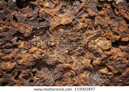 Surface of red stone