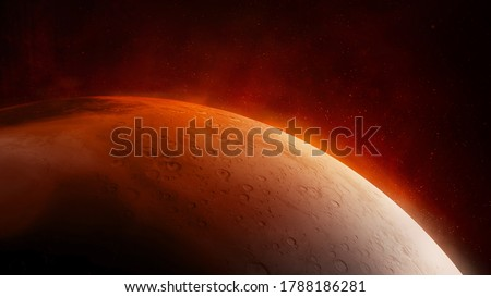 Surface of the red planet Mars close-up. Stock photo ©