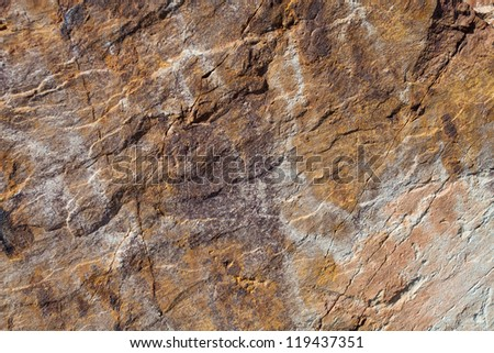surface of the stone with brawn tint