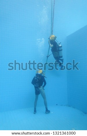 surface supplied commercial diver. diver. Underwater. #1321361000