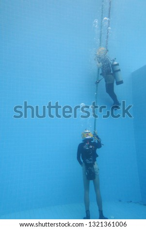 surface supplied commercial diver. diver. Underwater. #1321361006