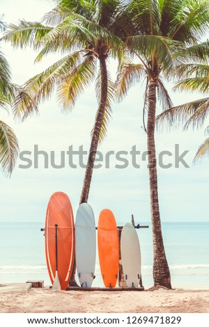 Surfboard Custom Flip Flops,Exotic Hawaii Vacation Palm Trees and Colorful Boards Water Sports Fun Activities Decorative for Beach /& Swimming Pool,US Size 5