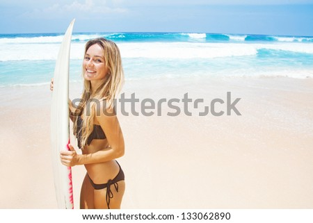 Surfer girl, bali