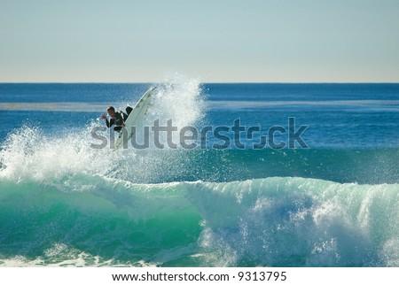 Surfer in Windansea, La Jolla, California
