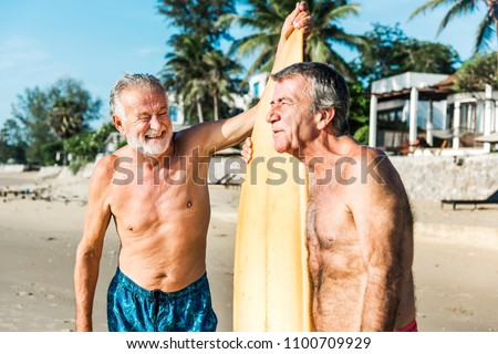 Surfers at a nice beach