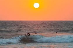 Surfers. Hikkaduwa, Sri Lanka.