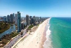 Surfers Paradise and Main Beach, Gold Coast.