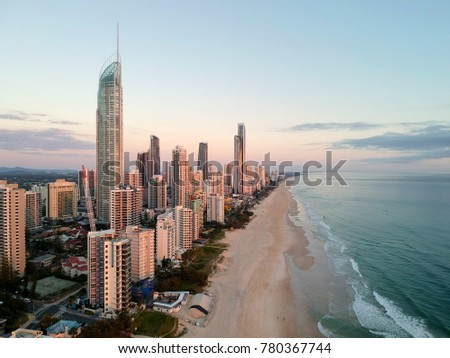 Surfers Paradise from the air.