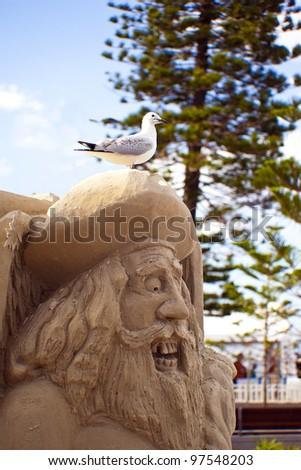 "SURFERS PARADISE QLD - FEBRUARY, 11: Mr Tutti Bonacci particapetes  ""Pirates in Paradise""  Sculptor Championship on February 11, 2012 in Surfers Paradise QLD Australia."