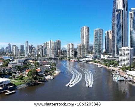 Surfers Paradise skyline, Gold Coast, Australia. #1063203848