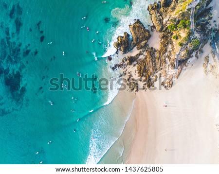 Surfing Aerial Noosa Byron Gold Coast Sunshine Coast #1437625805