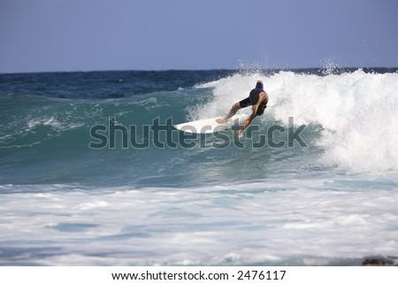 Surfing at Victoria Bay