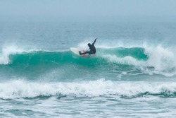 Surfing, Fistral Beach, Newquay, Cornwall