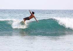 Surfing in Mirissa, Sri Lanka