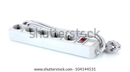 Surge protector isolated on white