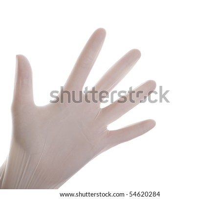 Surgical gloves on isolated white background