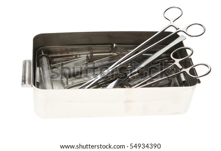 surgical tools isolated on white background
