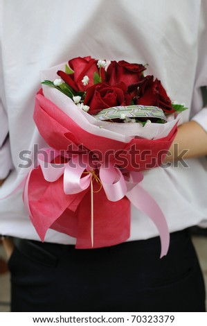 Surprise bouquet of roses. For different occasion